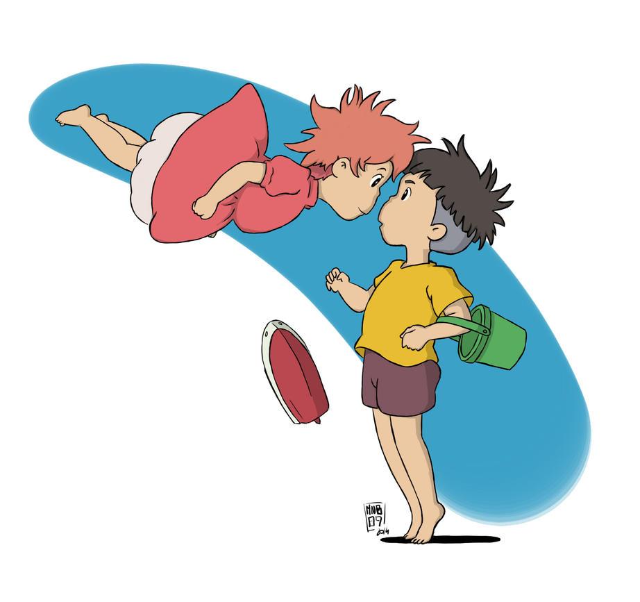 Ponyo and Sosuke by MnB89 on DeviantArt