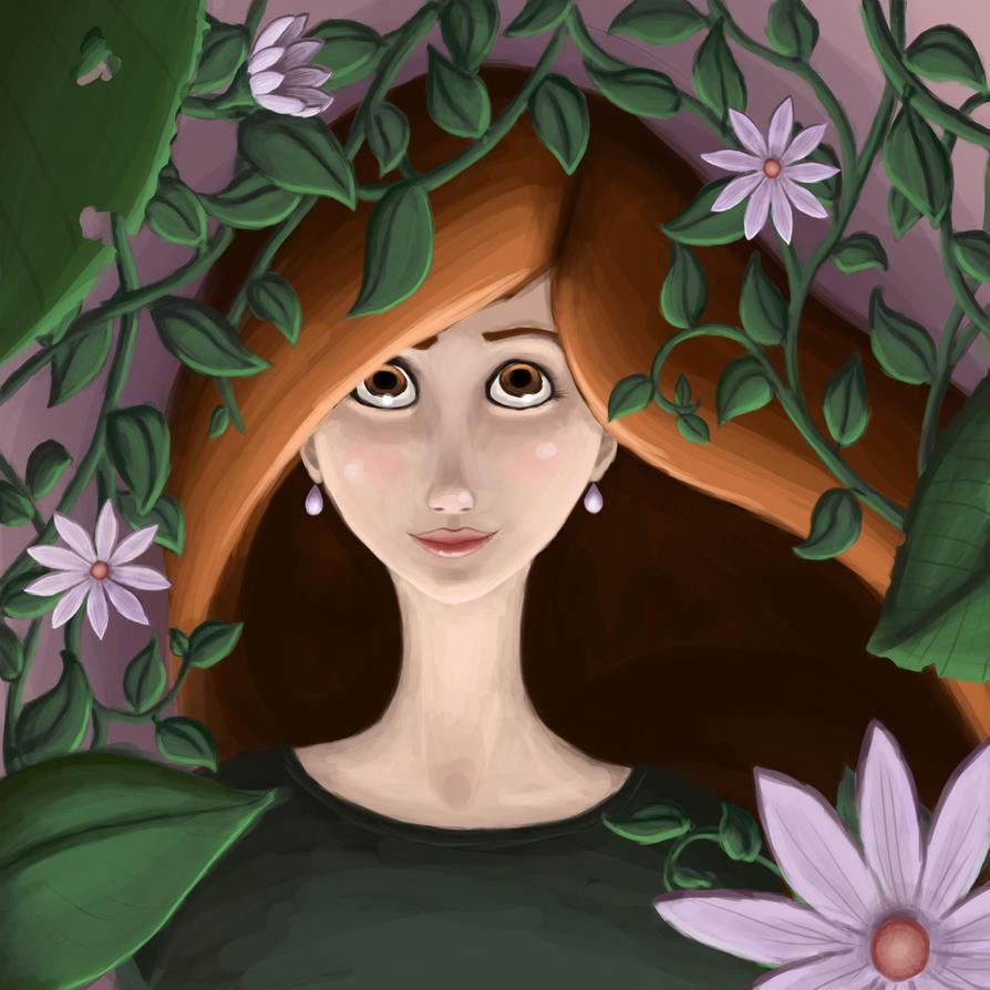 Flower Lady by ShadowWind182