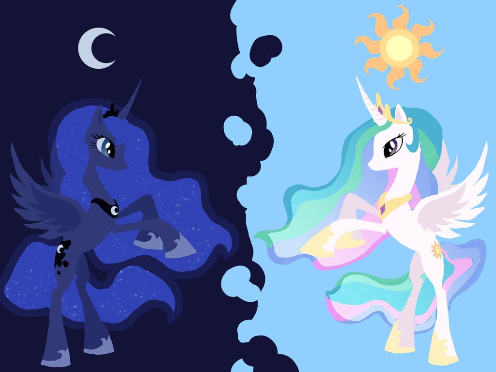 how to draw celestia and luna