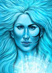 -Phenomena- Girl of the ice by IngvildSchageArt