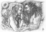 Tauriel, Kiliel and Kili - A moment of Peace
