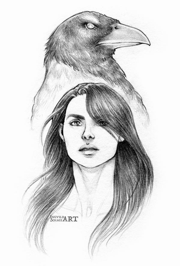 Saga :: The Crow by IngvildSchageArt