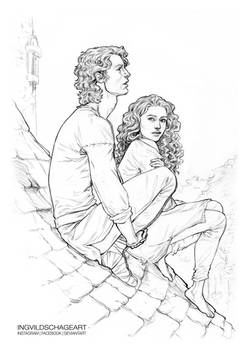 Finbar and Sorcha :: By her Brother on the roof