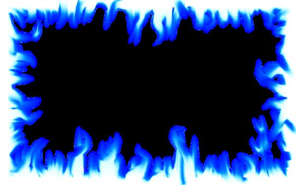 Flame Border: Intense Blue by Dave110 on DeviantArt