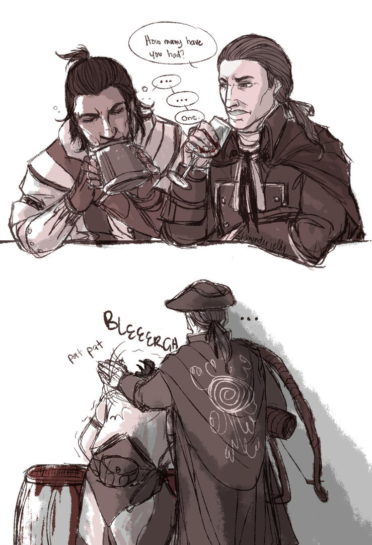 Connor And Haytham Fanfiction AC: I'M DRUNKBLAAAGHRR...