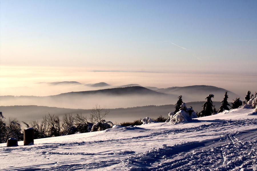 Frozen landscape by RukarioNakamura