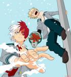 Todoroki and bakugou licenced heroes by juanfco17