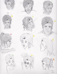Expression Sheet Sketches by TaylorsDoodles