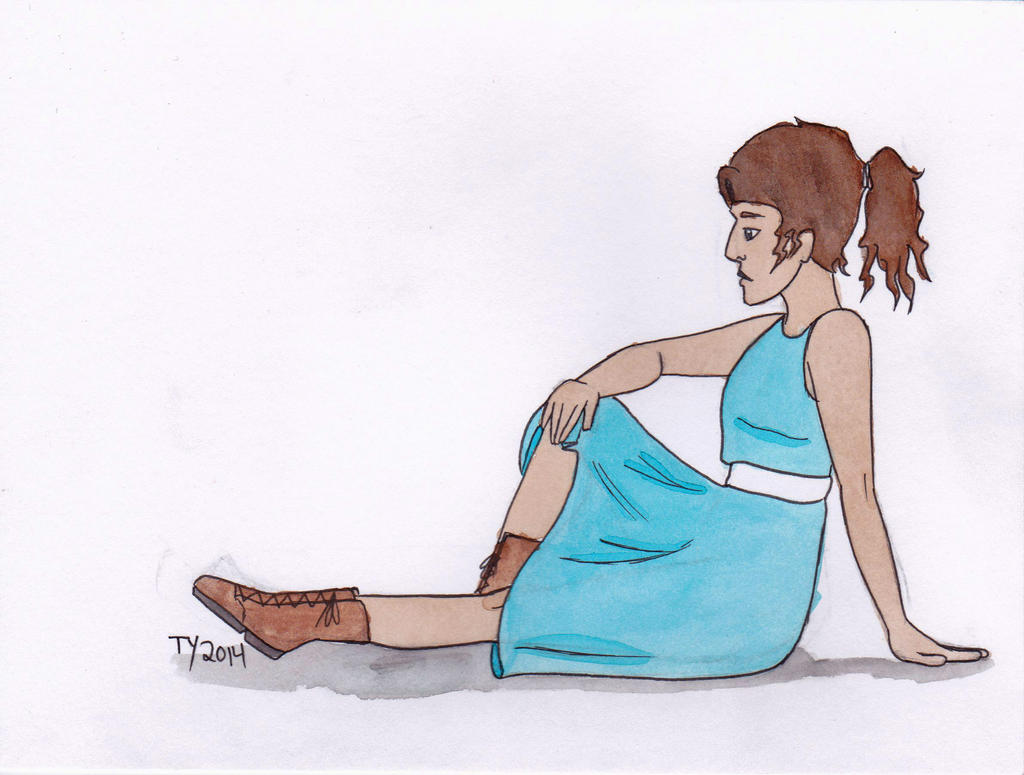 Blue Dresses make me happy by TaylorsDoodles