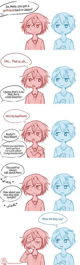 Rin and Haru in Australia Comic