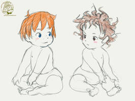 Ronja and birk babies by TaffyDesu