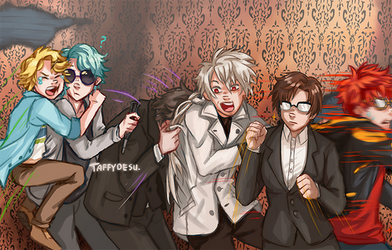 Mystic Messenger Haunted House MEME by TaffyDesu
