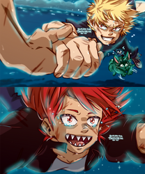 KiriBaku Spirited away by TaffyDesu