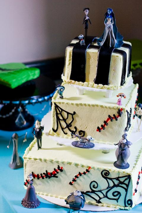Corpse Bride Wedding Cake by Acid-PopTart