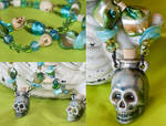 Swamp Witch Skull Necklace