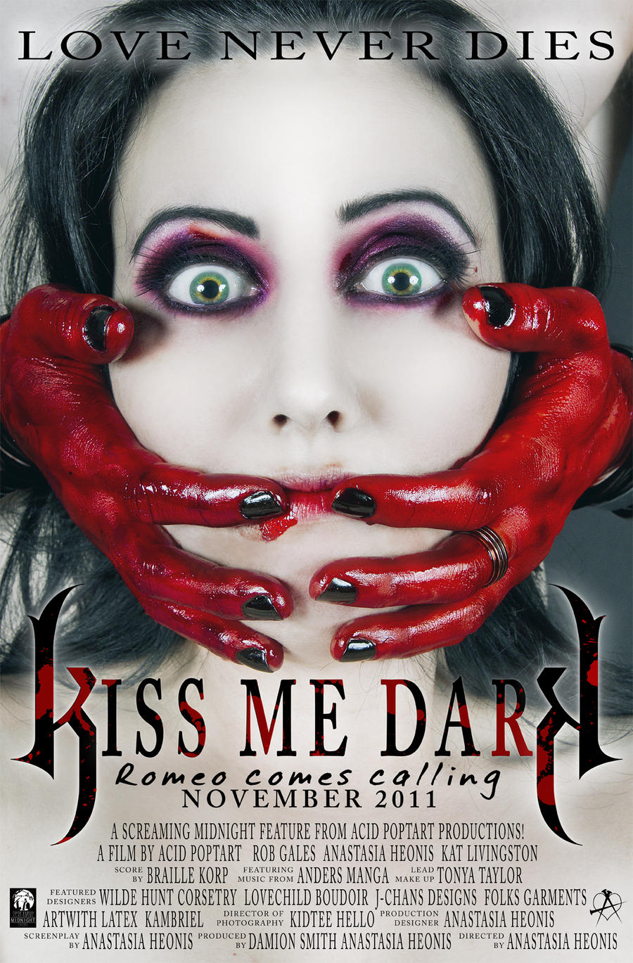 Kiss Me Dark Movie Poster by Acid-PopTart