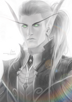 [C] Blood elf Tharivale Greythorne by Lidiash