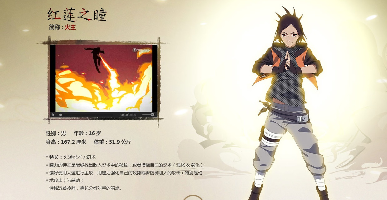 Naruto online character profile red lotus eye by eveblaze31 on
