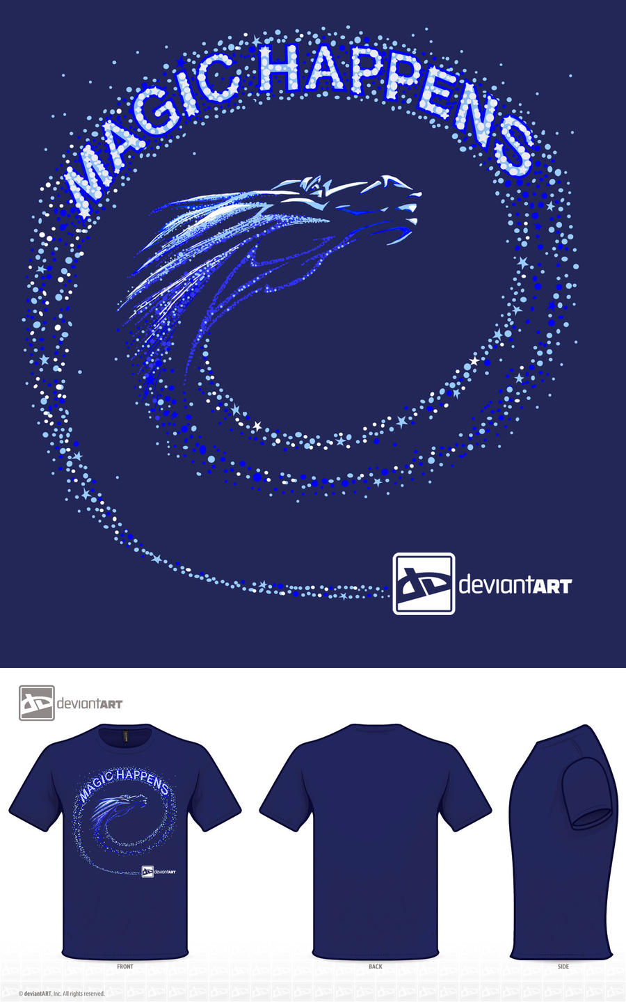 Frost Dragon T-Shirt by Lyrrian