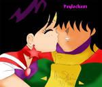 Sailor Mars and Yuuichirou by Psylocke83