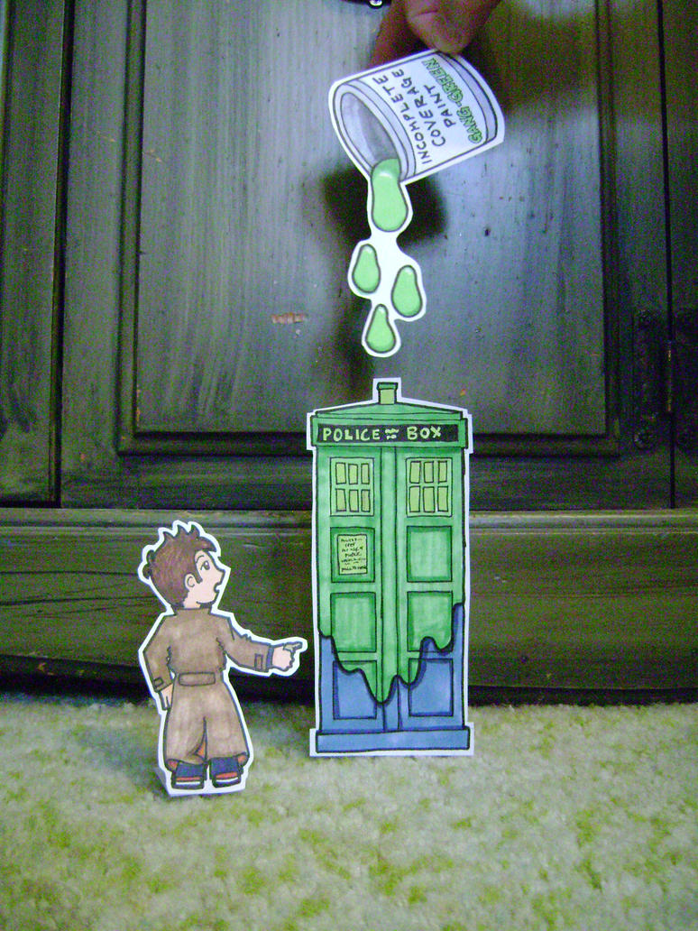 24: Green TARDIS by CrazyFoxMoon
