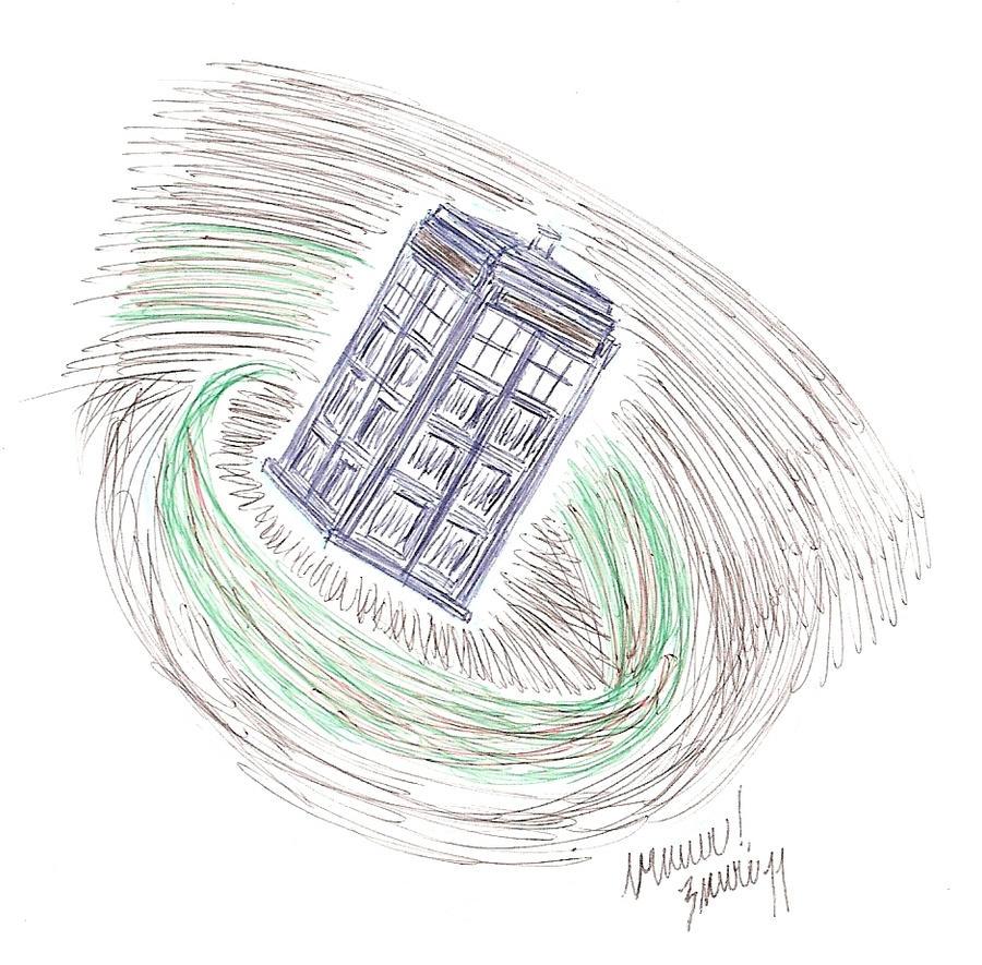 33: pen TARDIS by CrazyFoxMoon