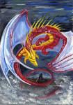 Red dragon by Dragonitka