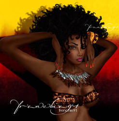 African Afro Beauty by frenchie91