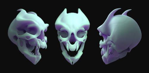 Chou-wai skull II by laloon
