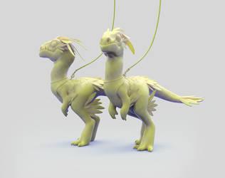 Pet velociraptors I by laloon