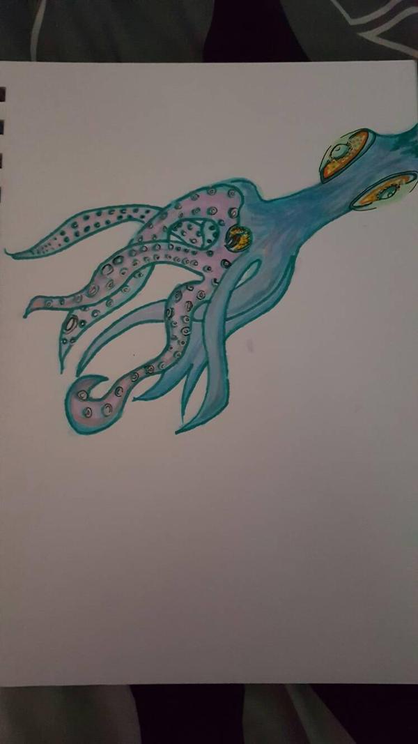 Blue Squid by JesseJamesK