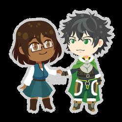Commission: Naofumi and OC