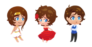 Commission: Zayden, Girl Zayden, and William