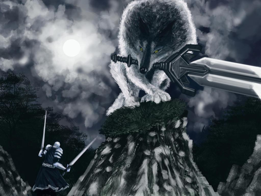 The Great Wolf Sif Dark Souls Fan Art By Guy Mandude On