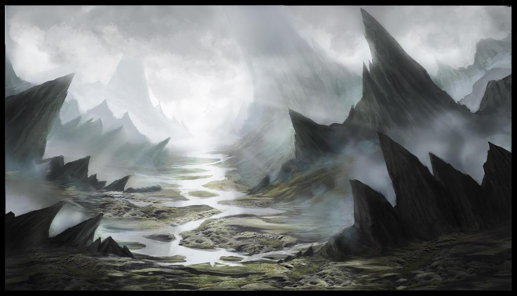 Fantasy landscape (Tutorial/workshop jonas de Ro) by ProtagonistSe7en