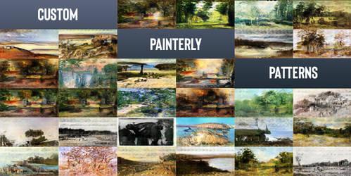 18000 Custom Painterly Patterns for Photoshop by Guy-Mandude