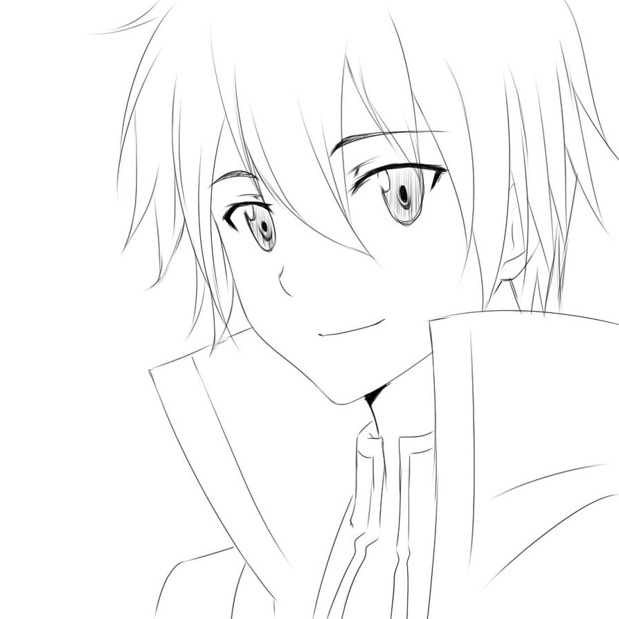 Kirito full body drawing images for Sketch it online