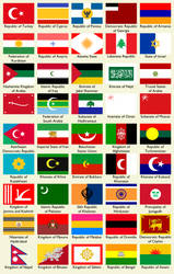 AnAm: Flags of the Middle East and South Asia by Keperry012
