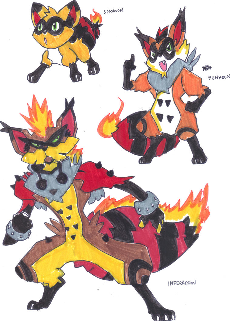 Fakemon Fire Starters By TheZombieHunter On DeviantArt