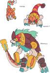 Fakemon- Atzeca Pangolines