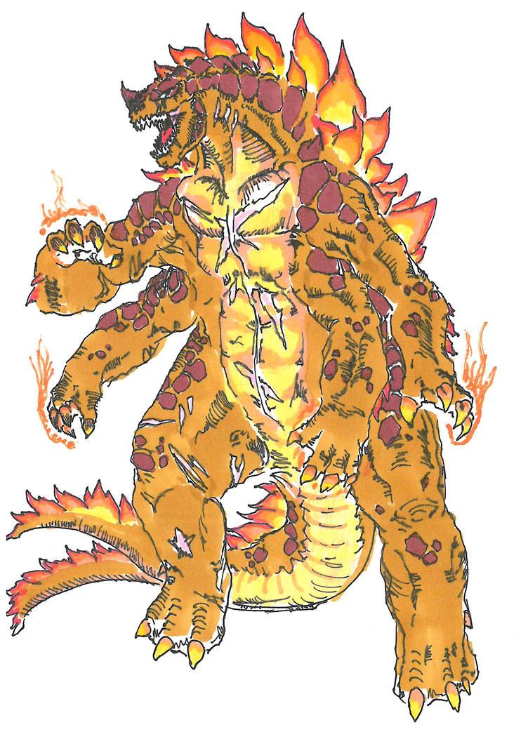 DAIKAIJU DEVASTATION- Shagara, il Re Fiammeggiante by TheZombieHunter