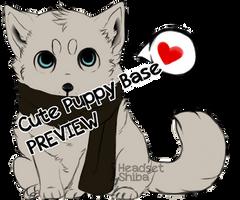 Cute Puppy base by iHeadsetShiba