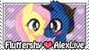 .:Gift:. AlexLiveXFluttershy STAMP by Ne-chi