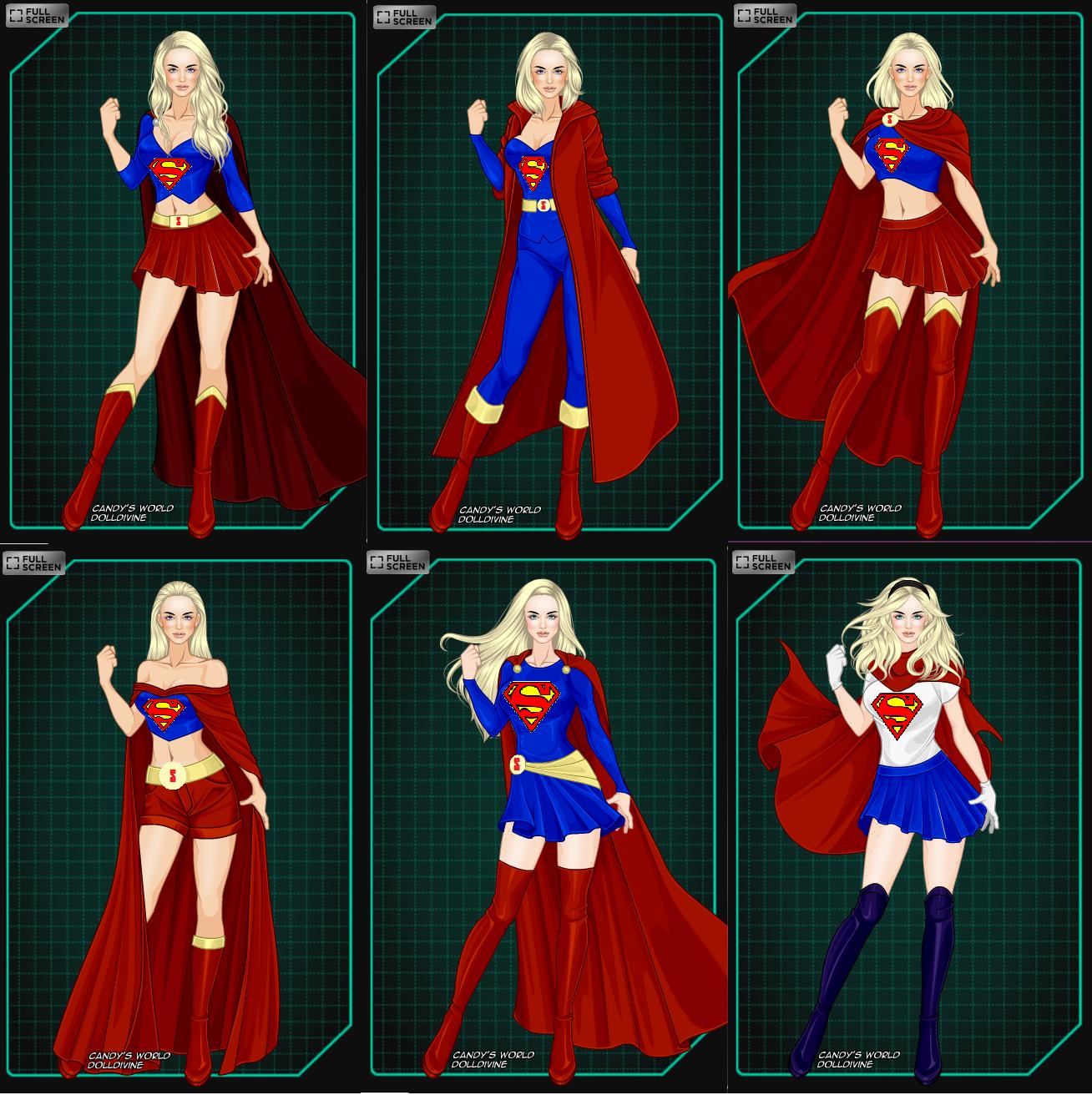 Supergirl Outfits By Misstudorwoman On Deviantart