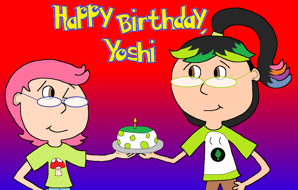 Yoshis birthday card by baconbaka on deviantart yoshis birthday card by baconbaka bookmarktalkfo Image collections