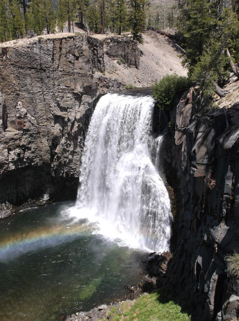 Waterfall With Rainbow By Amberseree On Deviantart