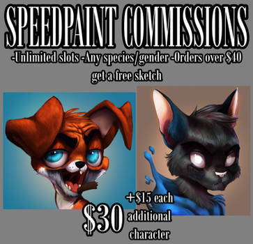 SPEEDPAINTING COMMISSIONS [CLOSED] by Wreckham