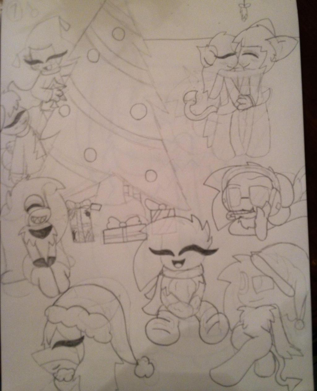 Christmas Celebration Sketch By Shinysmeargle On Deviantart