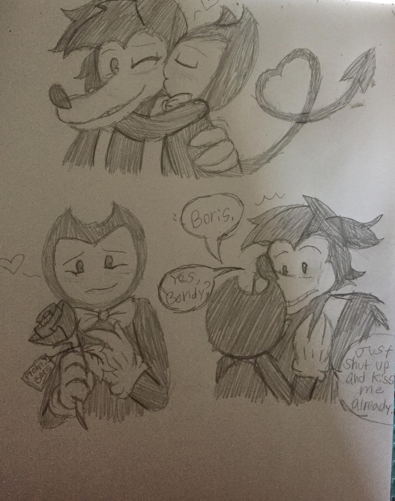 Bendy x Boris Doodles #3 by ShinySmeargle