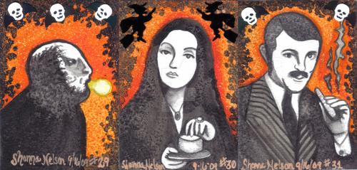 Adams Family Halloween ATC by MisssBarbie